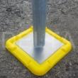 Spigot Base Plates - 150x150x2mm Self Colour