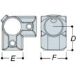 Aluminium 3 Way Corner (33.7mm) - Kee Lite (L21-6)