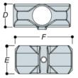 Aluminium Two Socket Cross (33.7mm) - Kee Lite (L26-6)