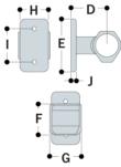 Aluminium Handrail Bracket (33.7mm) - Kee Lite (L70-6)