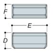 Aluminium External Sleeve Joint (33.7mm) - Kee Lite (L14-6)