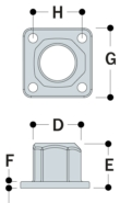Aluminium Square Base Plate (33.7mm) - Kee Lite (L152-6)