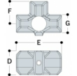 Aluminium Side Outlet Tee (33.7mm) - Kee Lite (L35-6)