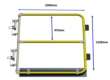 Double Width Self Closing Safety Gate (Galvanised)