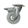 Braked Swivel Castor, Plated, 100mm Wheel-Copy