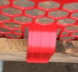 PLASTIC BRICKGUARD (HEXGUARD) - 100 pack - Red
