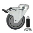 Braked Swivel Castor & Expander for 42.4mm / 48.3mm Tube