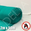 Debris Netting - Fire Retardant - 2m x 50m - Green.