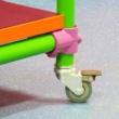 Braked Swivel Castor & Expander for 26.9mm Tube