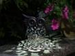 Metal Silhouette Owl Garden Light