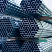 "Scaffolding Tube (Galvanised Steel) – 2.5m (8'2"") x 48.3mm O/D x 3.2 mm wall"