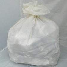 100 Medium Duty White Refuse Sacks - Bin Bags