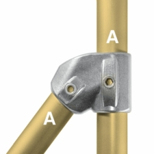 Aluminium Adjustable Tee 30-60 Degree (48.3mm) - Kee Lite (L29-8)