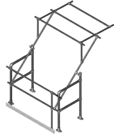 Type B Narrow Model Pallet Gate (Galvanised)