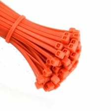 Orange Cable Ties (Zip Ties) - Pack of 100