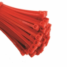 Red Cable Ties (Zip Ties) - Pack of 100