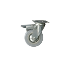 Braked Swivel Castor, Plated, 50mm Wheel