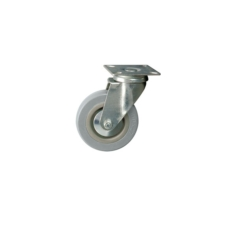 Unbraked Swivel Castor, Plated, 50mm Wheel