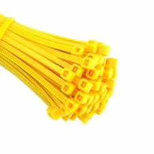 Yellow Cable Ties (Zip Ties) - Pack of 100