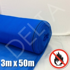 Fire Retardant Debris Netting - 3m x 50m Blue