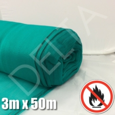 Debris Netting - Fire Retardant - 3m x 50m - Green