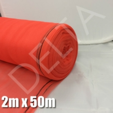 Debris Netting - 2m x 50m - Red.