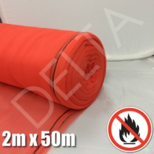 Red Fire Retardant Debris Netting - 2m x 50m