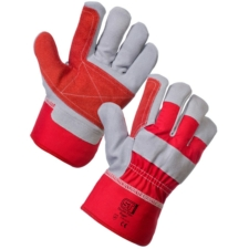 Elite Rigger Glove - Red & Silver 12 Pack, Large