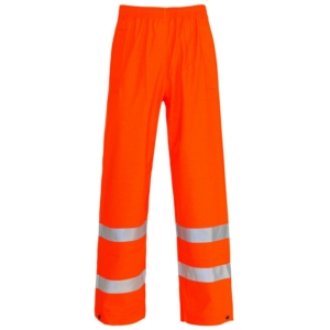 Hi Vis Storm-Flex PU Overtrousers Orange