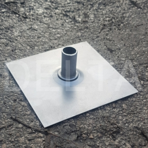 Spigot Base Plates - 150x150x2mm Self Colour