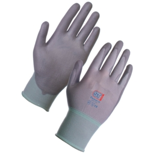 Electron Polyurethane Coated Nylon Glove - Grey 12 Pack in Large