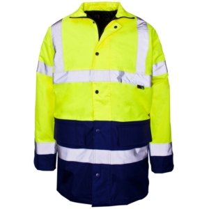 Hi Vis 2 Tone Parka Jacket, Yellow & Blue