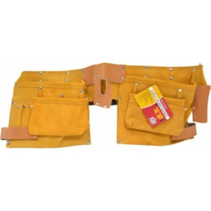 Double Pouch Leather Tool Belt