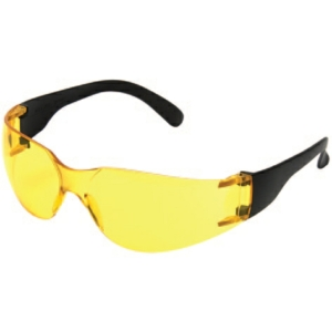 Standard Safety Glasses, Yellow Lens - Pack of 12