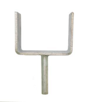 "4"" (100mm) Fixed U-Head with Spigot"