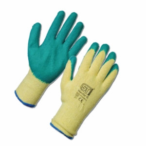 Latex Palm Coated Handler Gloves - Green 12 Pack in Extra Large