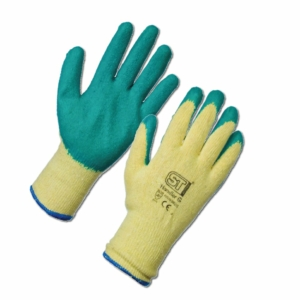 Latex Palm Coated Handler Gloves - Green 12 Pack in XXL