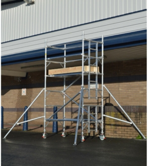 HiLyte 500 Industrial Aluminium Scaffold Tower, Single Width (0.85m), 2.5m Length