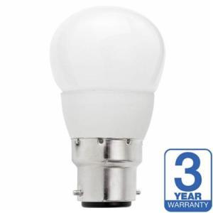 GOLF BALL OPAL 4W (20W) BC (B22) 200 Lumens Warm White LED Light Bulb