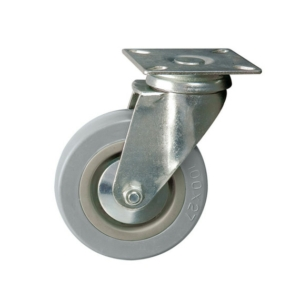 Unbraked Swivel Castor, Plated, 100mm Wheel