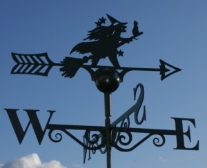 Witch & Cat Weather Vane, Poppy Forge