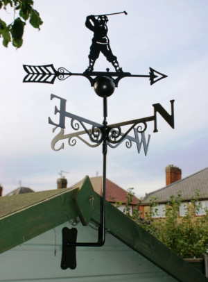 Golfer Weather Vane, Poppy Forge