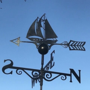 Sailing Boat Weathervane, Poppy Forge