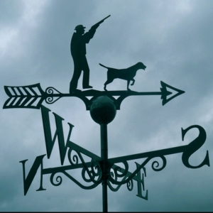 Shooting Scene Weather Vane, Poppy Forge