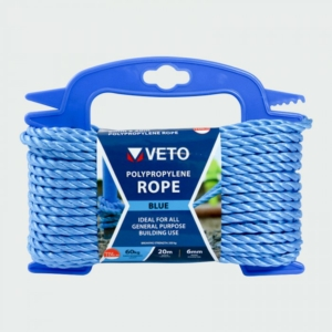 Blue Polypropylene Rope on Winder, 6mm Diameter 20m