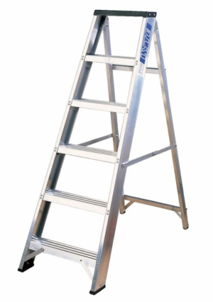 Aluminium Swingback Lyte Stepladder with Tool Tray