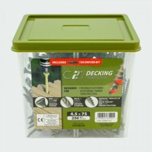 C2 Decking Screw TX20 CSK - Green 4.5 X 65 (Tub of 1000)