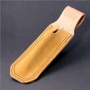 Spirit Level Holder, Long, Tan Leather