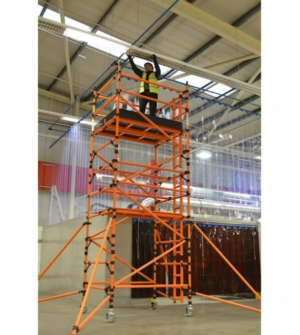 HiLyte Leader 500 GRP Scaffold Tower, Single Width (0.85m), 1.8m Length
