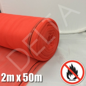 Red Fire Retardant Debris Netting - 2m x 50m